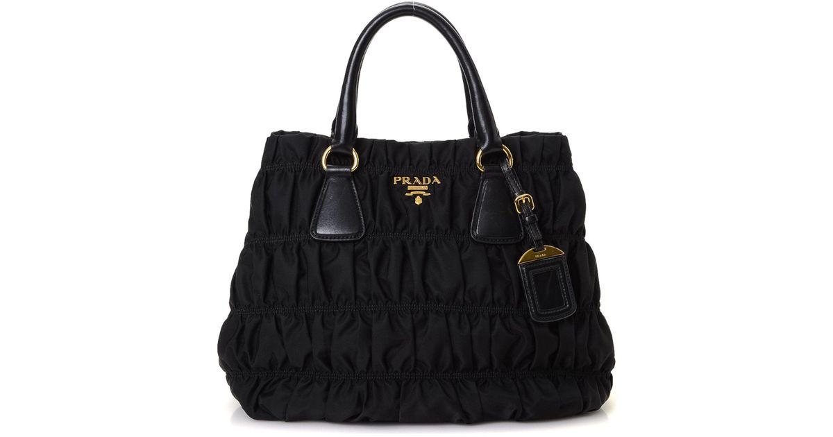 f5d24b492c06 get lyst prada tessuto nappa gaufre tote vintage in black 2d907 b0a88