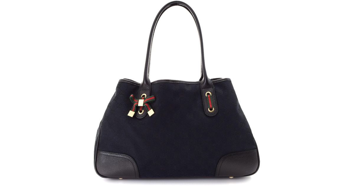 1013b38fdd1 Lyst - Gucci Canvas Princy Tote - Vintage in Black