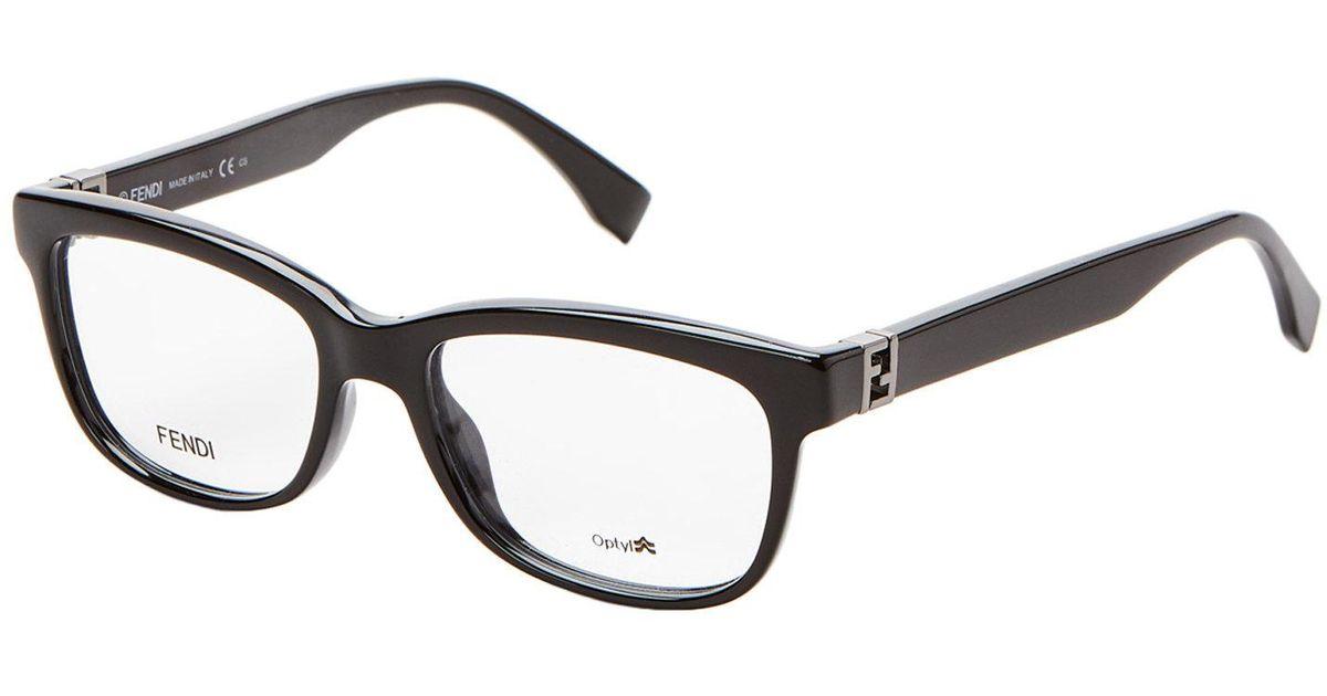 Lyst - Fendi Ff0009 Black Square Optical Frames in Black