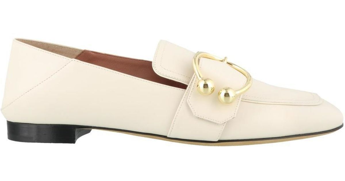 580dca0961a12 Bally Malinda Loafers in Natural - Lyst