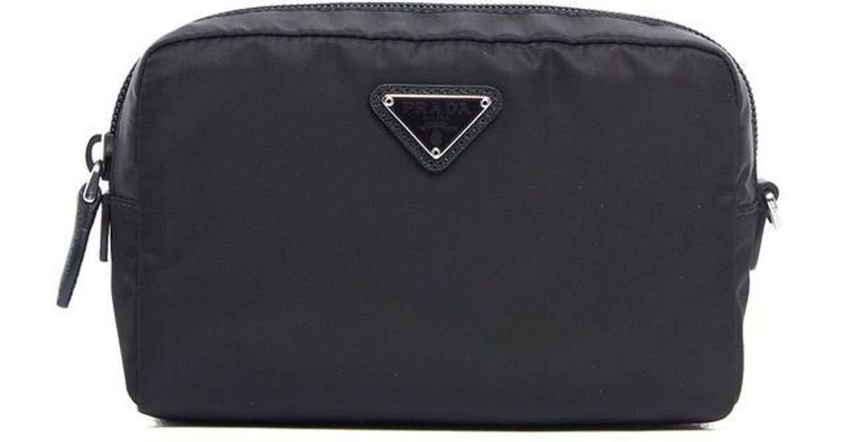 ... discount code for lyst prada makeup bag in black 95c4d 96a4c 033da02d92fab