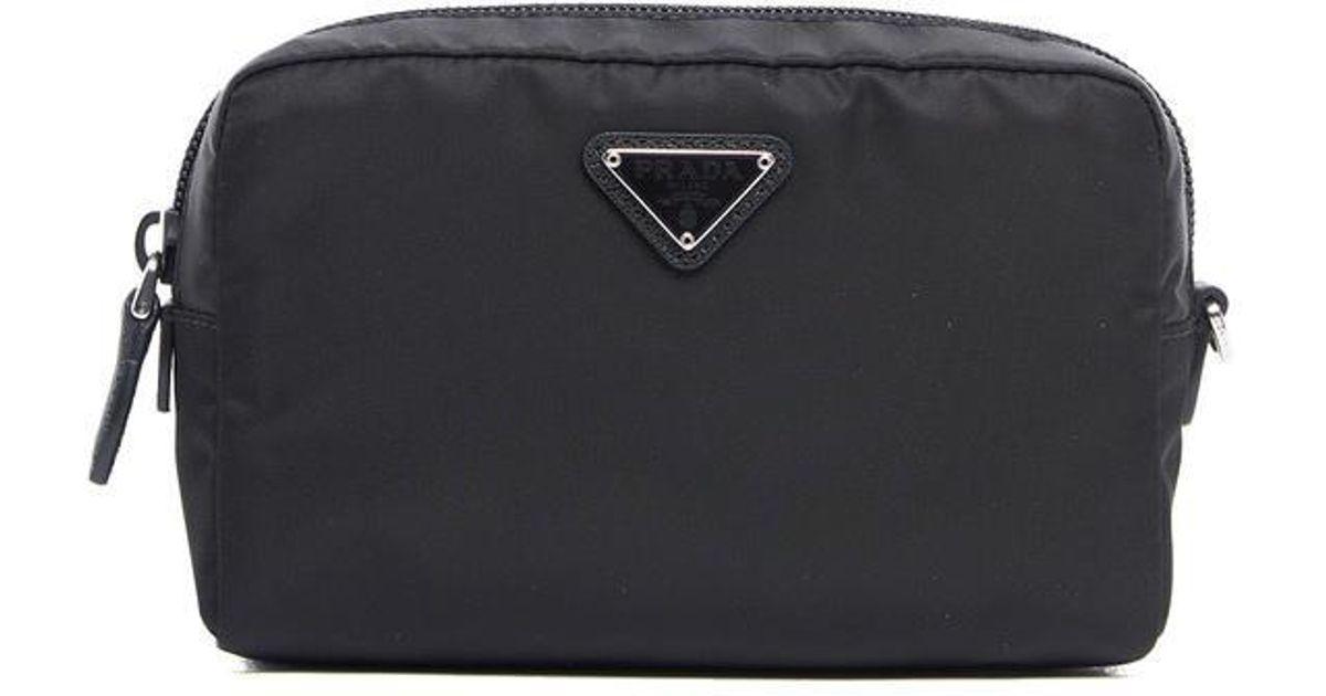 35483cc80eb8 ... discount code for lyst prada makeup bag in black 95c4d 96a4c