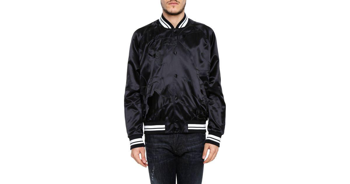 Lyst Valentino Black Panther Bomber Jacket In Black For Men