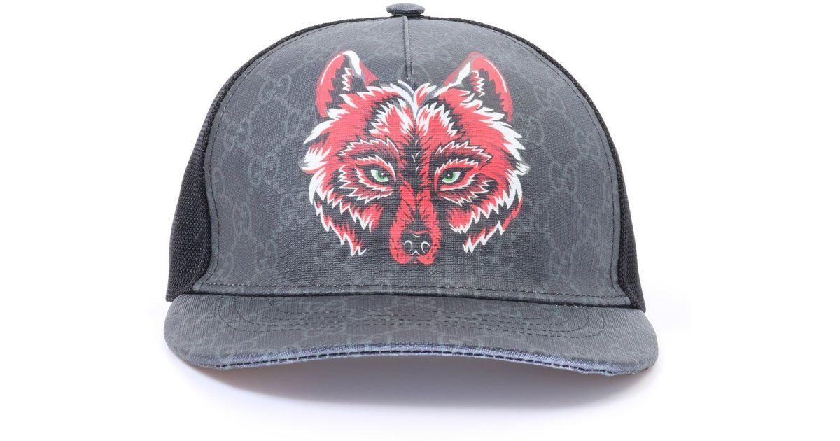 c6b1f23ced5d0 Gucci GG Wolf Baseball Cap in Black for Men - Lyst