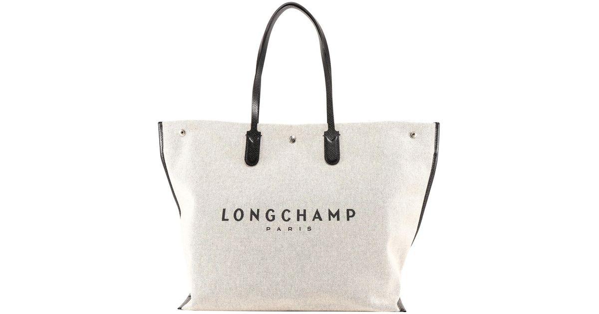 Longchamp Natural Roseau Xl Shopping Bag