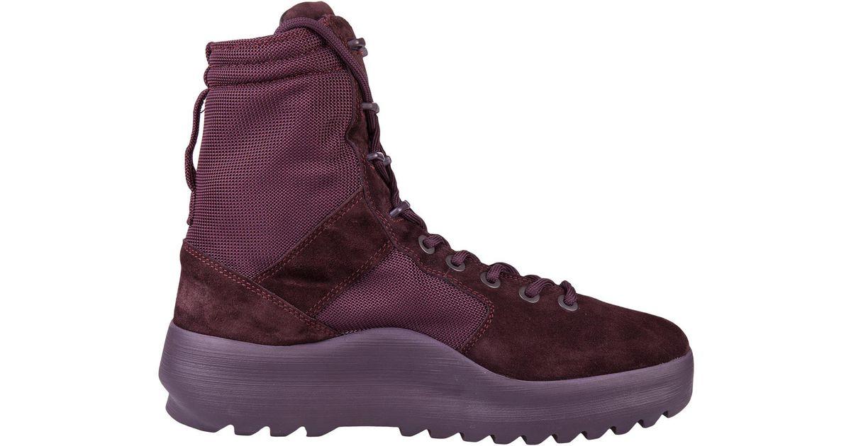 9ea2fdf8 Yeezy Season 6 Combat Boots in Purple - Lyst