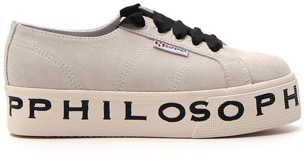 design senza tempo 0dd75 0cd72 Philosophy Di Lorenzo Serafini Multicolor X Superga Philosophy Sneakers