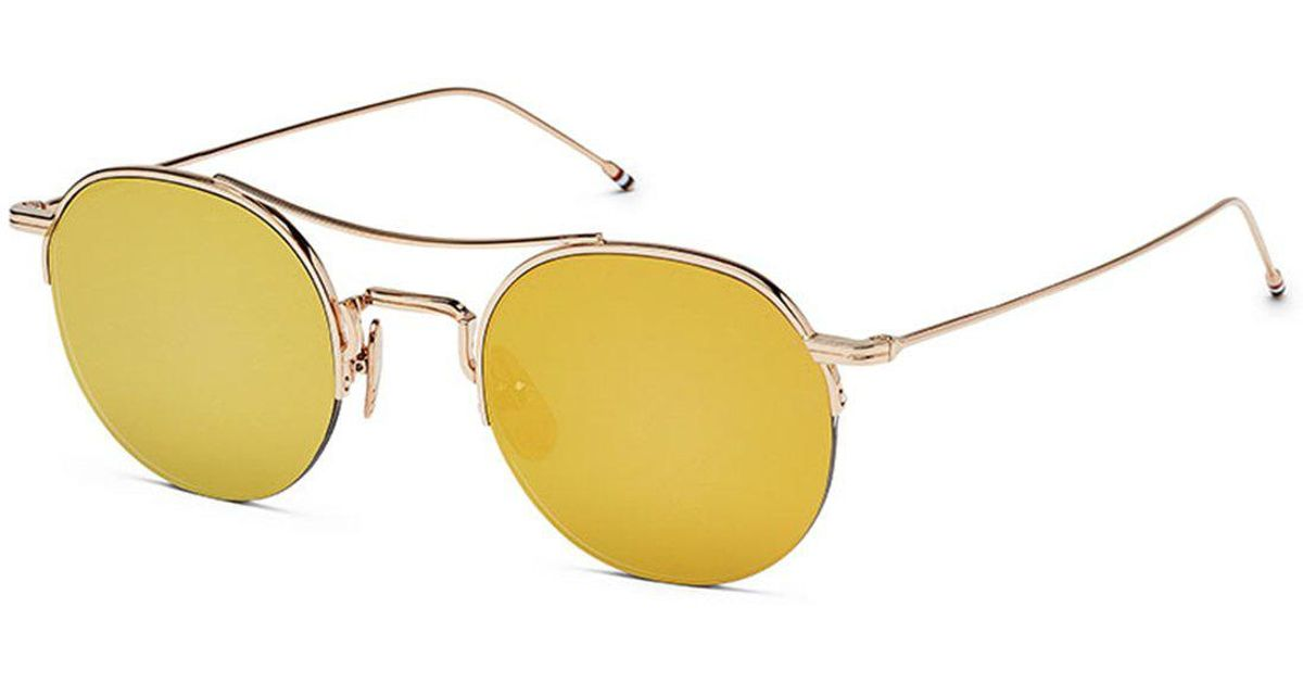 b946c189b01e2 Thom Browne Rounded Glasses in Yellow - Lyst
