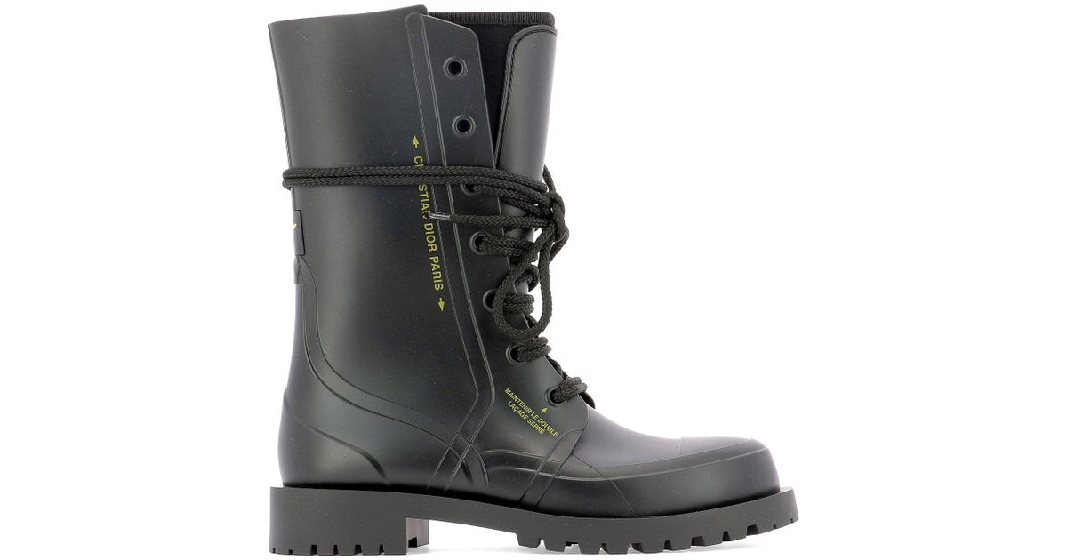 Dior Camp Rubber Ankle Boot in Black - Lyst