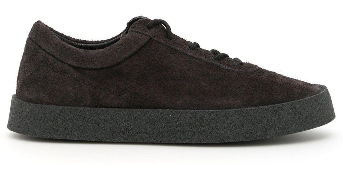 43e77645b Lyst - Yeezy Suede Low Top Sneakers in Gray