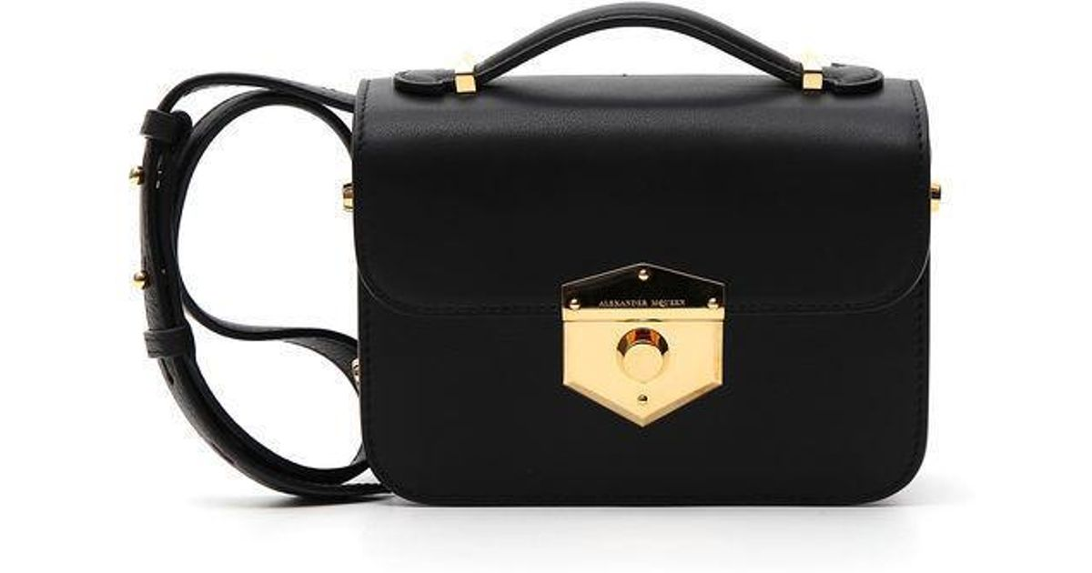 Lyst - Alexander McQueen Wicca Bag in Black e91bc9e1d9e59