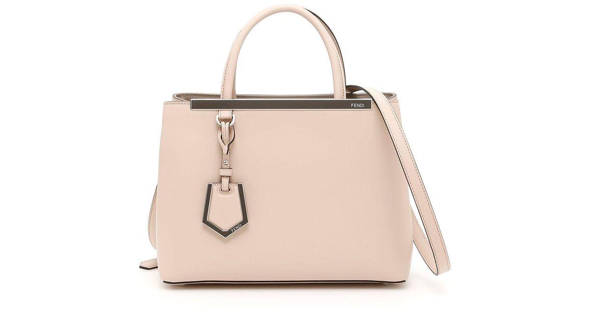 ee134490b659 Lyst - Fendi Shopping 2jours Petite Tote in Pink