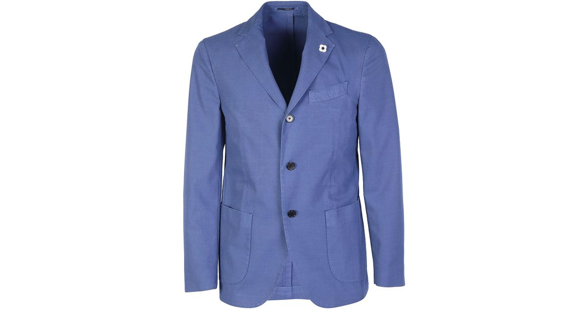 c476efdc412d Lardini Single-breasted Blazer in Blue for Men - Save 41% - Lyst