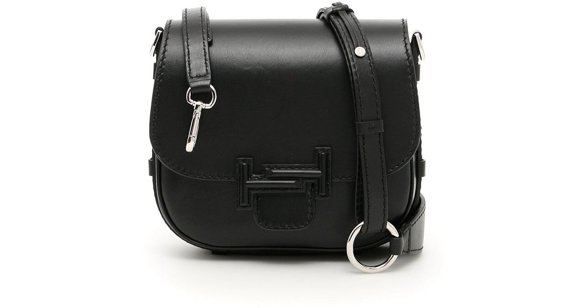b88773f87b Tod's Double T Saddle Bag in Black - Lyst