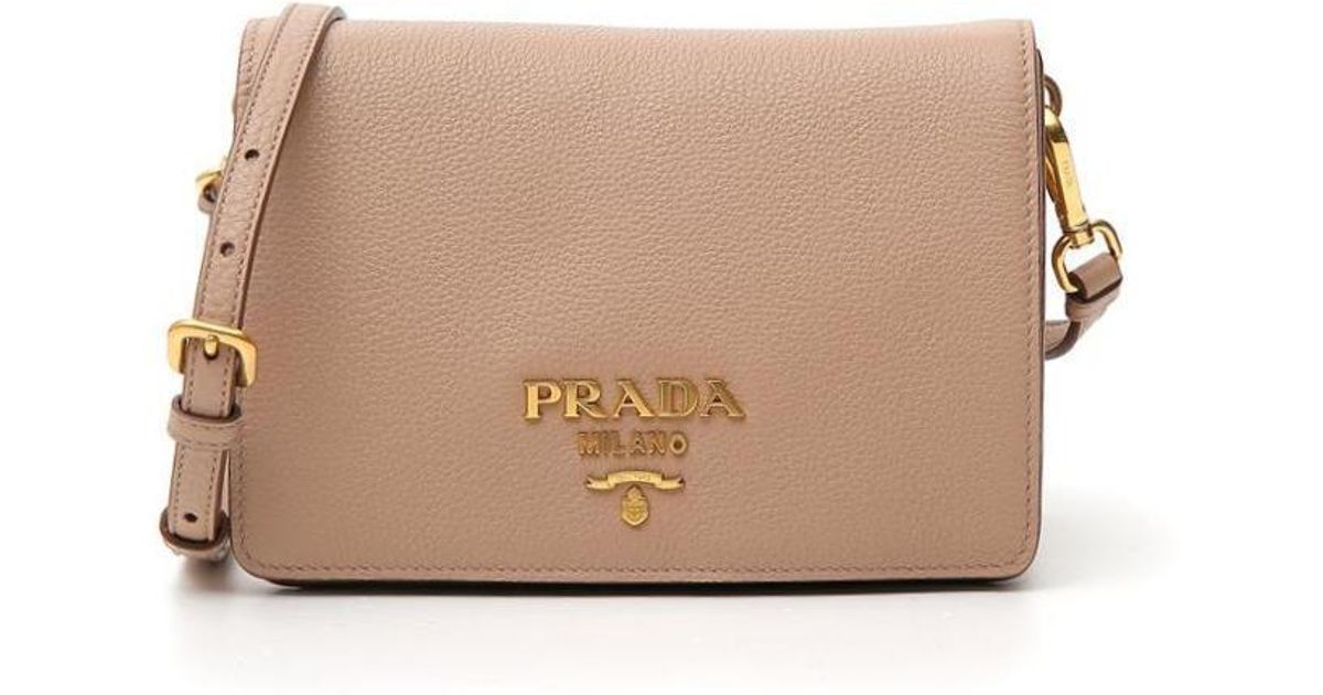 cbc7b6348f93 Prada Crossbody Bag in Natural - Lyst
