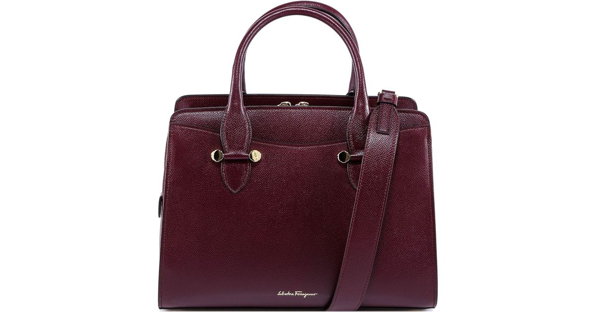 154aafb192a4 Lyst - Ferragamo Top Handle Crossbody Bag in Red