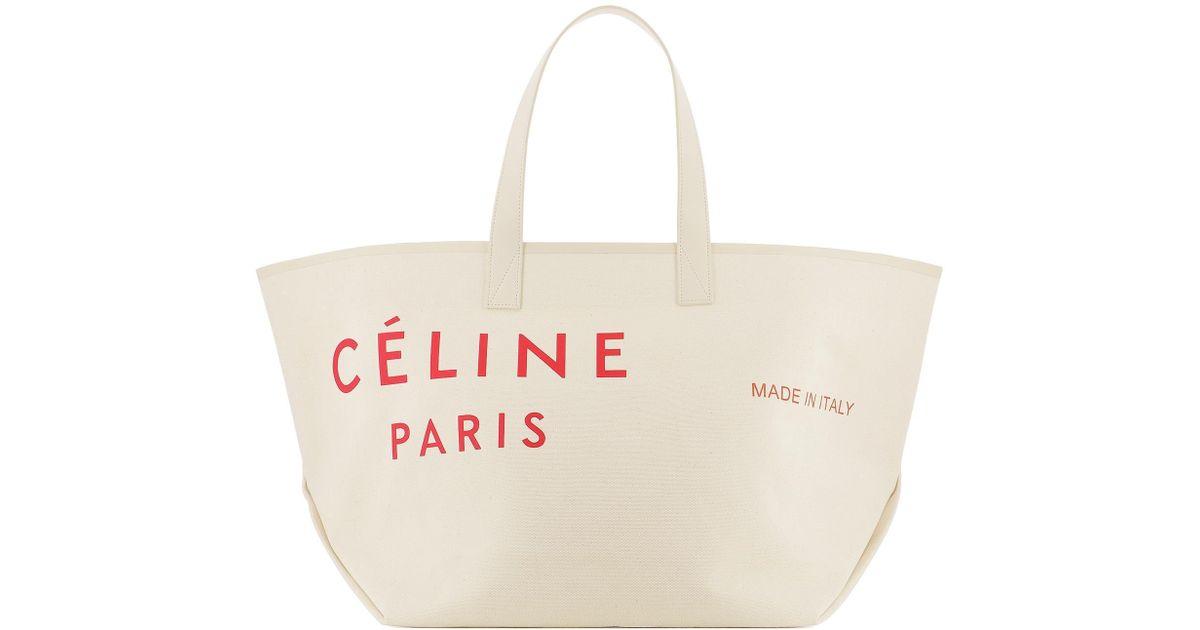 meilleures baskets adf6e f7607 Céline White Cabas Shopper Tote