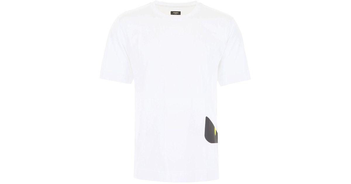bb5950f4e Fendi Bag Bugs Printed T-shirt in White for Men - Lyst