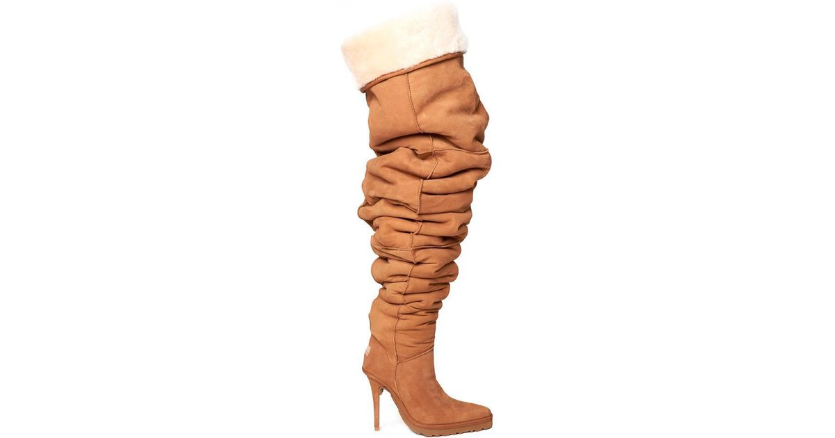 ef75c99f1f2 Y. Project Natural X Ugg Slouchy Thigh High Boots