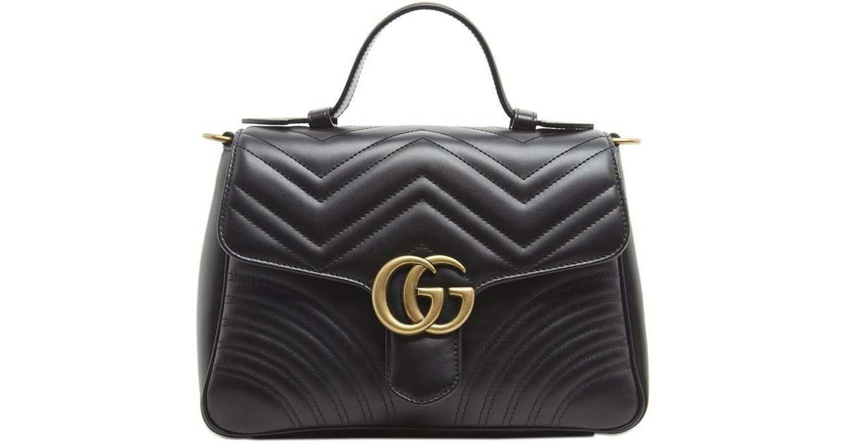 d1346b40cef269 Lyst - Gucci GG Small Marmont 2.0 Shoulder Bag in Black
