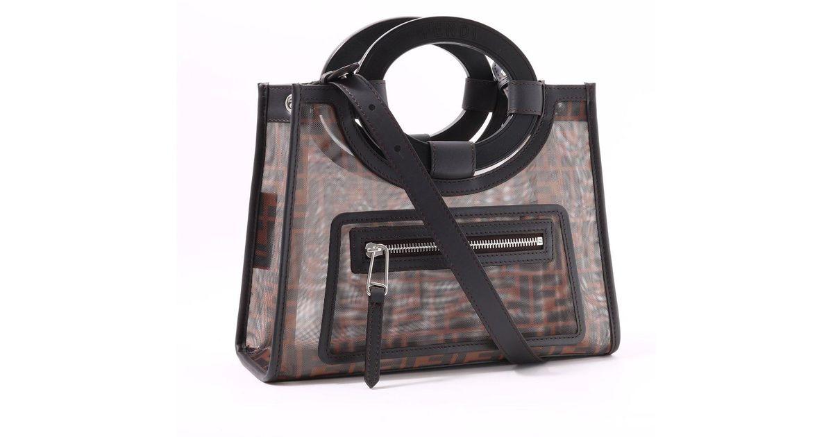 4d308ee874ca Fendi Shopper Bag Runaway in Black - Lyst