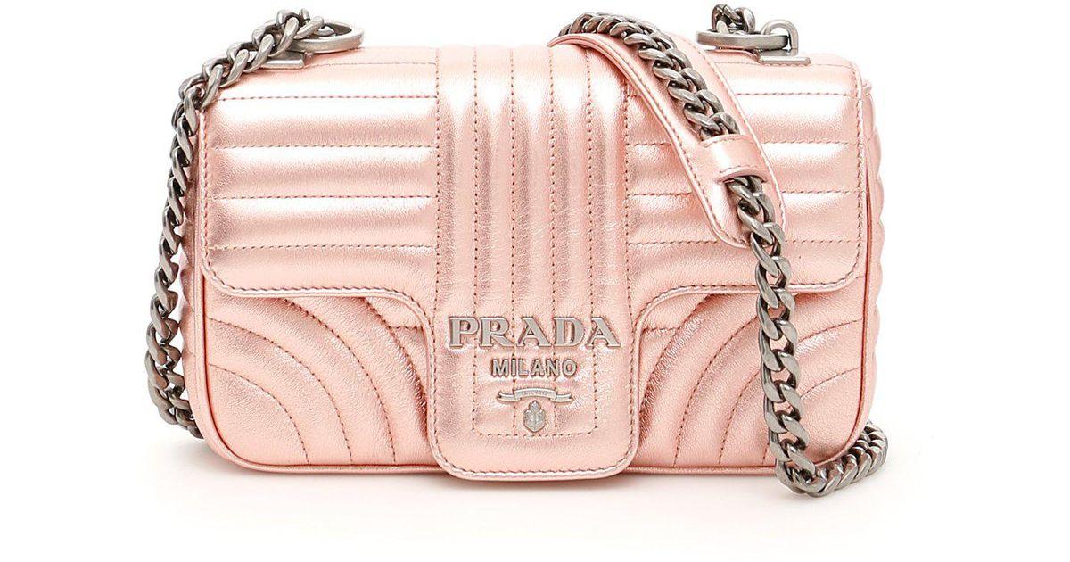 2d6757ec56ec Lyst - Prada Matelassé Shoulder Bag in Pink