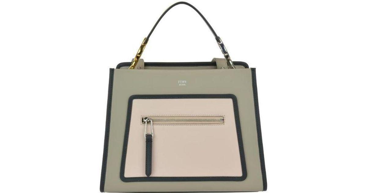 be0947918d1b Fendi Runaway Top Handle Bag in Gray - Lyst