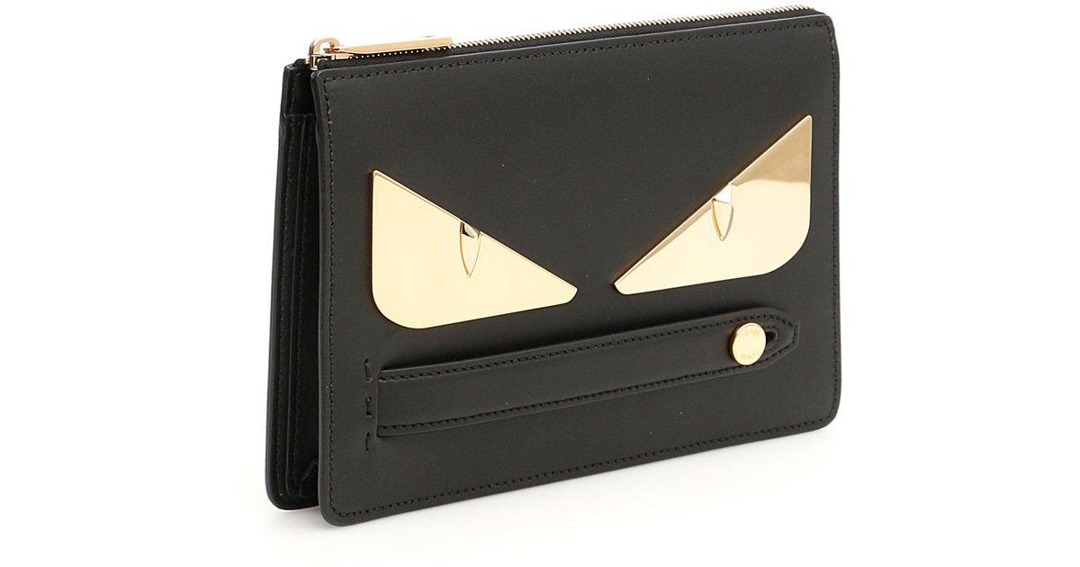Fendi Bag Bugs Clutch in Black - Lyst 963e0b7e06d44