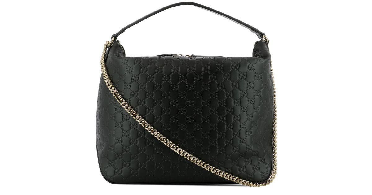 69f02ca6bd7c25 Gucci GG Large Hobo Shoulder Bag in Black - Lyst