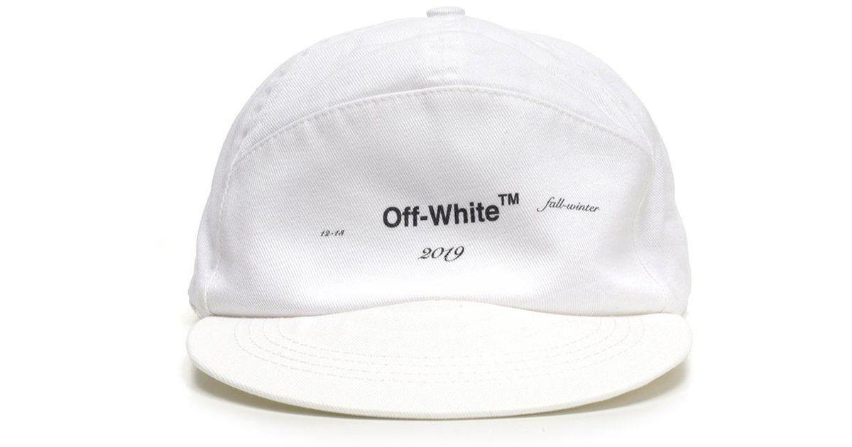 Off-White c o Virgil Abloh Logo Print Snapback Hat in White for Men - Lyst d1a8bdd2c86