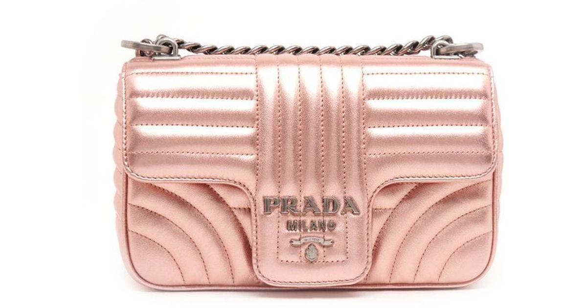 7f123c6a023c Prada Matelassé Shoulder Bag in Pink - Lyst