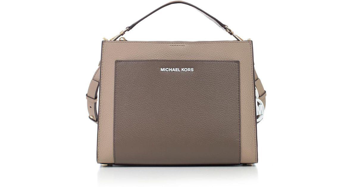 c58ec549953e0e MICHAEL Michael Kors Gemma Shoulder Bag in Brown - Lyst