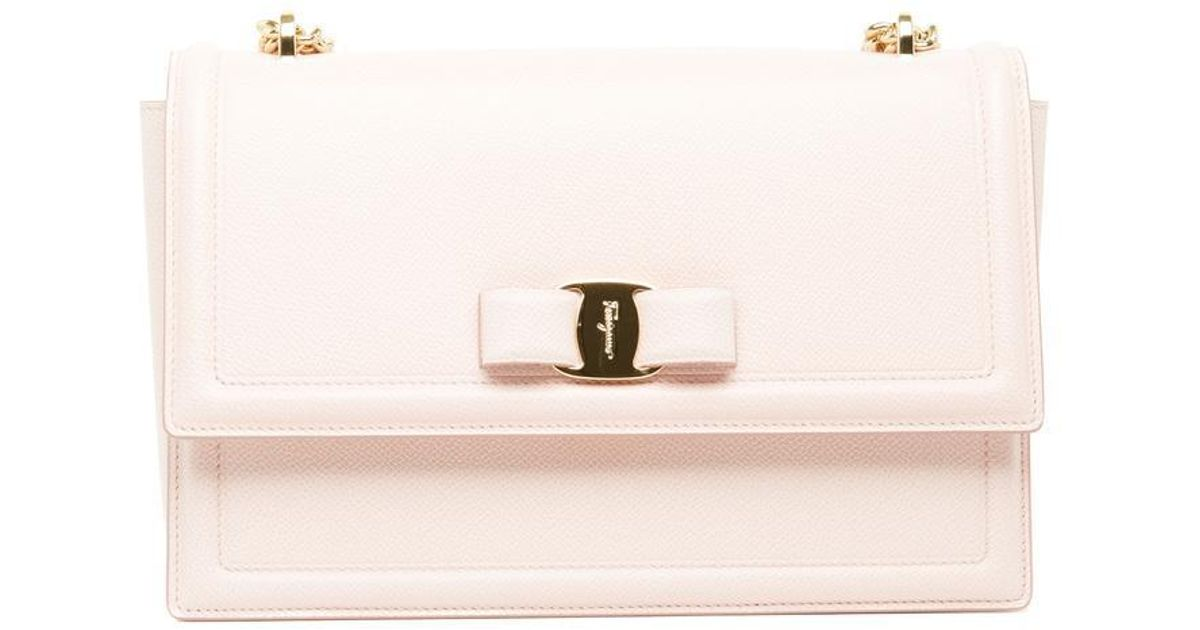 a3e31eab2ae9 Ferragamo Ginny Chain Strap Shoulder Bag in Pink - Lyst