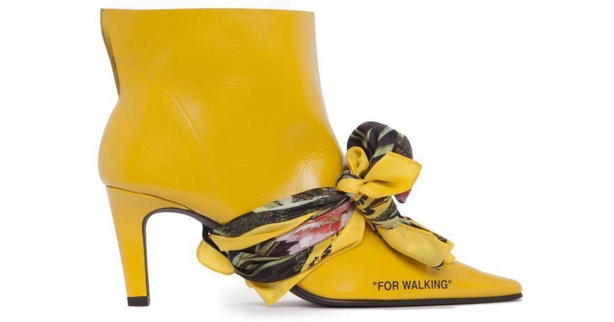 616d9ebf77a7 Lyst - Off-White c o Virgil Abloh For Walking Ankle Boots in Yellow