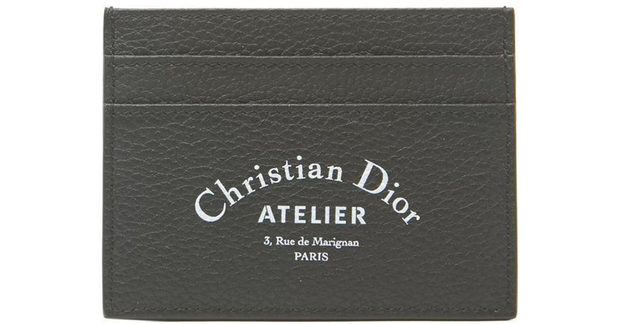 pretty nice af208 622ba Dior Homme Black Atelier Leather Cardholder for men