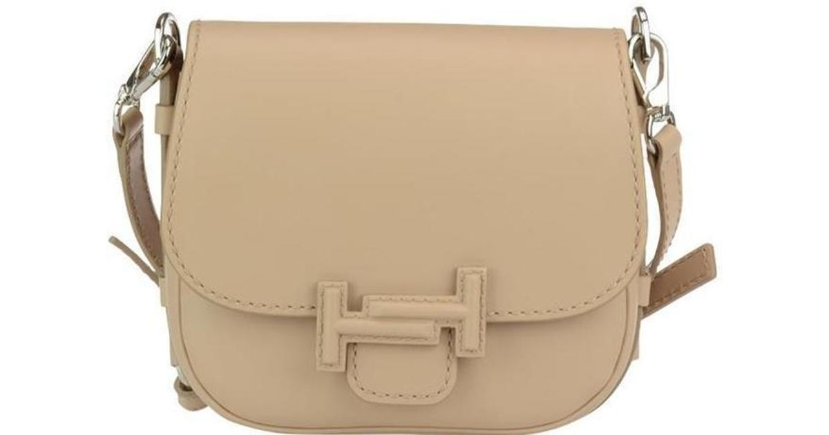 ffcd31c75c Tod's Double T Saddle Bag in Natural - Lyst