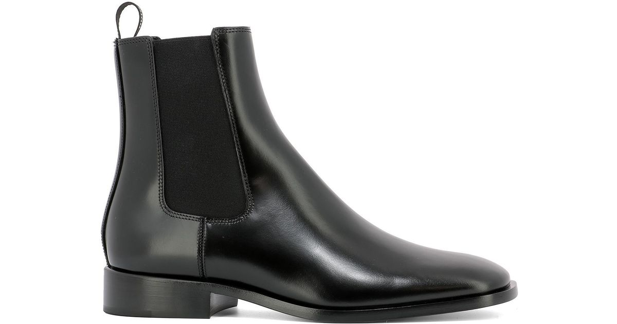 Dior Leather Boyish-d Ankle Boots in