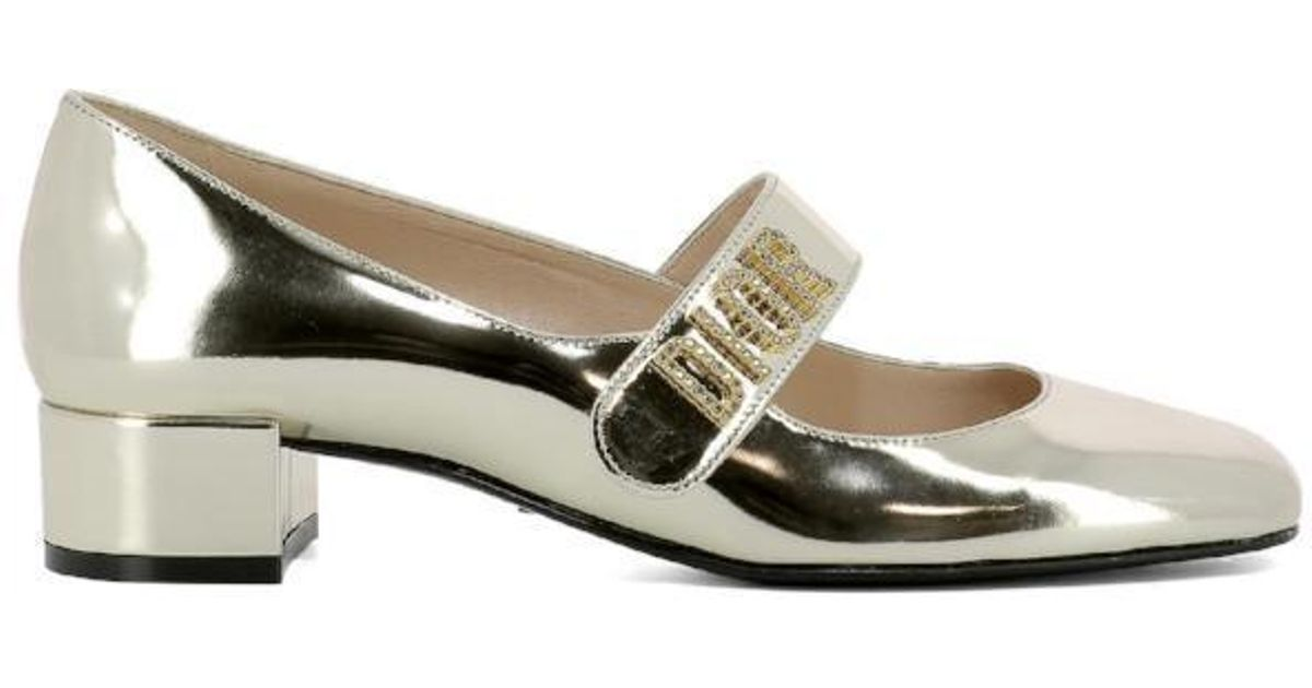 Dior Leather Baby-d Ballerina Shoes in