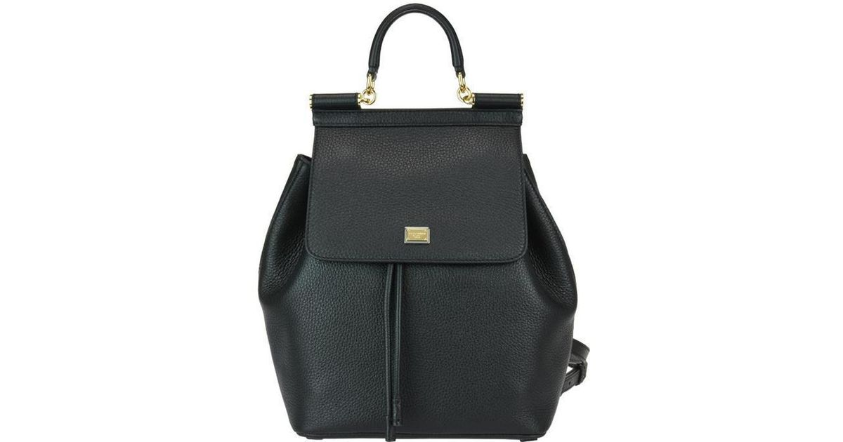 f082626fe557 Lyst - Dolce   Gabbana Sicily Backpack in Black