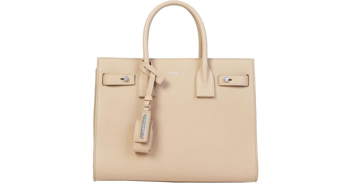 e52fd20b04 Saint Laurent Sac De Jour Small Tote Bag in Pink - Lyst