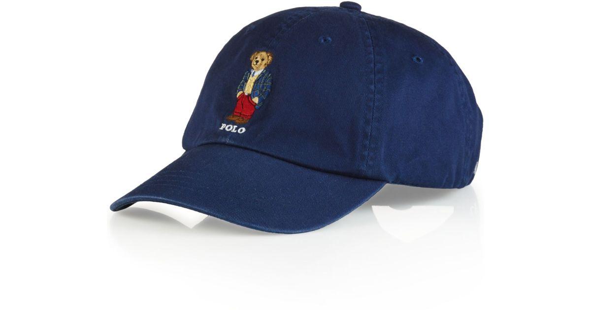 Lyst - Polo Ralph Lauren Polo Bear Chino Baseball Cap - Preppy Polo Bear in  Blue for Men 5a8f564dcbc