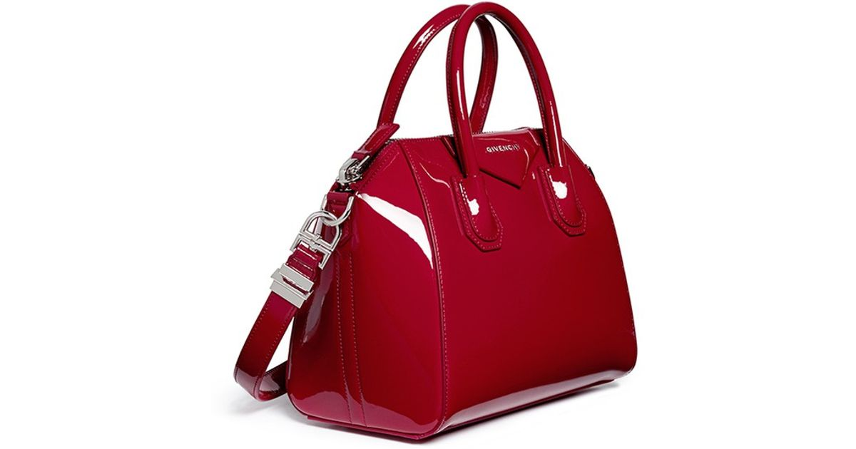 ba273df3cabb Lyst - Givenchy  Antigona  Small Patent Leather Bag in Red