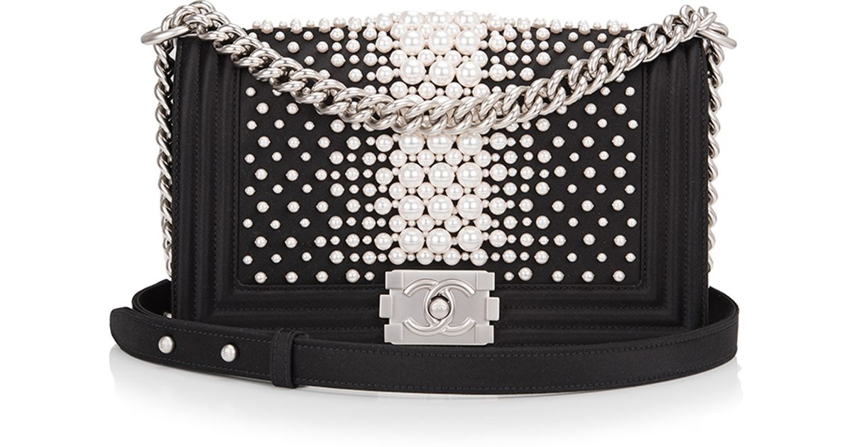 2e1534b89d36 Madison Avenue Couture Limited Edition Chanel Black Pearl Medium Boy Bag in  Black - Lyst