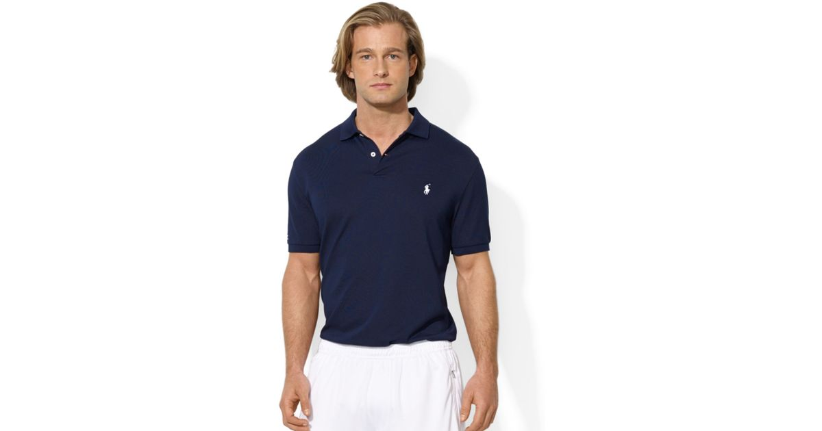 00c1a6fe5c772 ... coupon for lyst polo ralph lauren polo performance polo shirt in blue  for men 57c43 40876