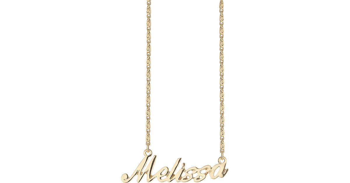 b008ef606a711 TOPSHOP Metallic Melissa Name Necklace