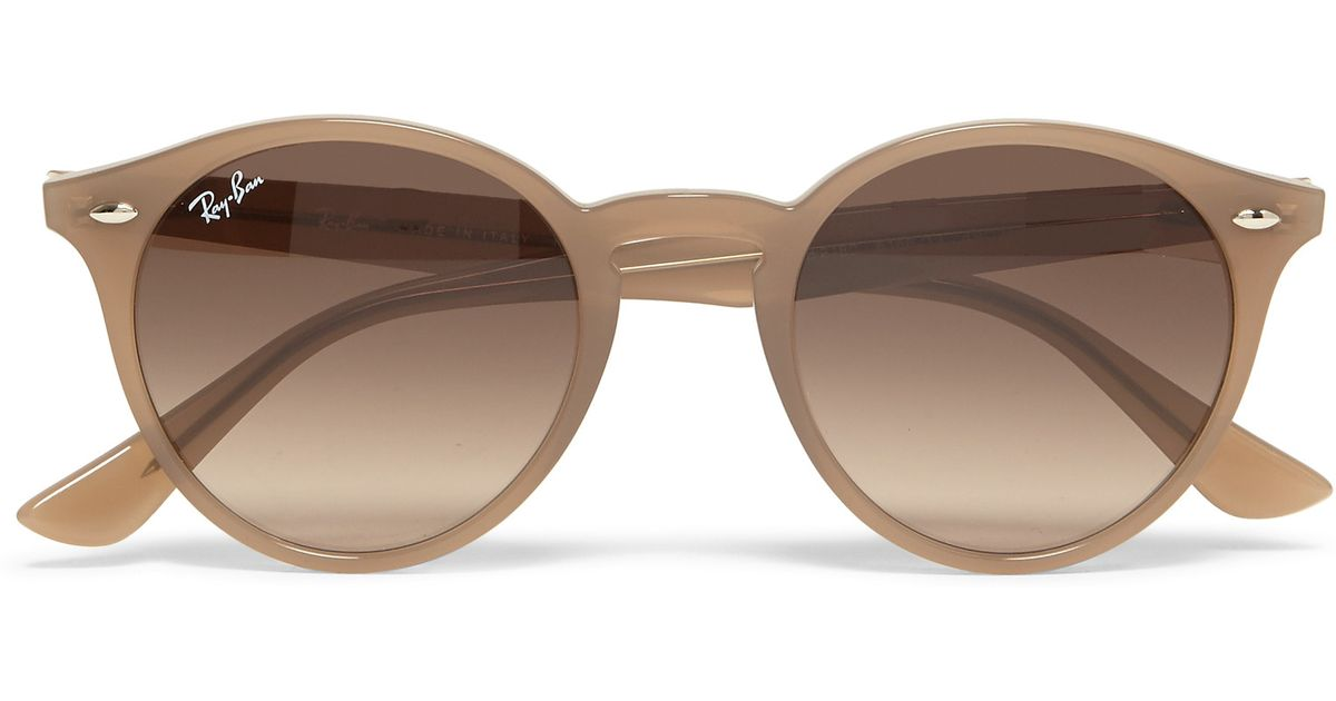 72c3cc8a9fd Ray-Ban Round-frame Acetate Sunglasses in Natural for Men - Lyst