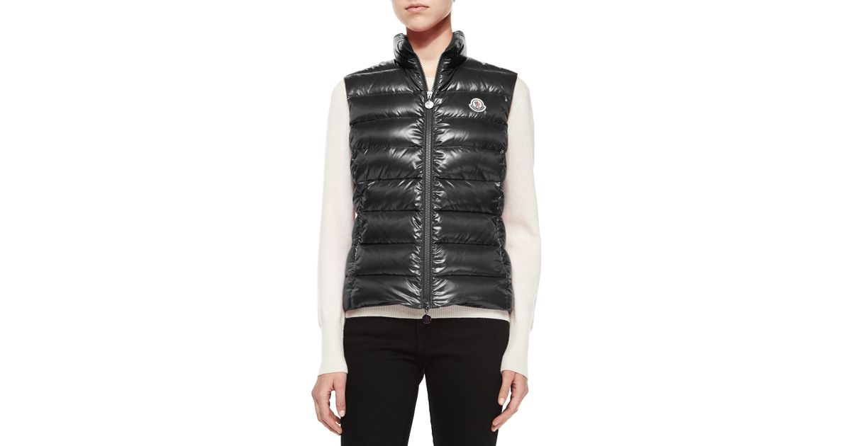 99d9a5050 Moncler Blue Ghany Shiny Quilted Puffer Vest