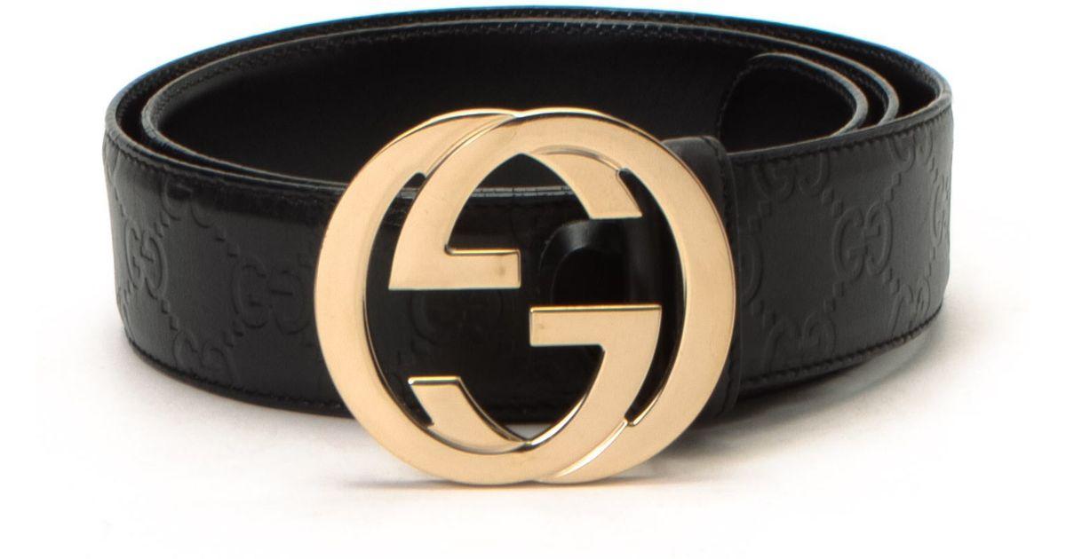 Gucci Black Belt , Vintage