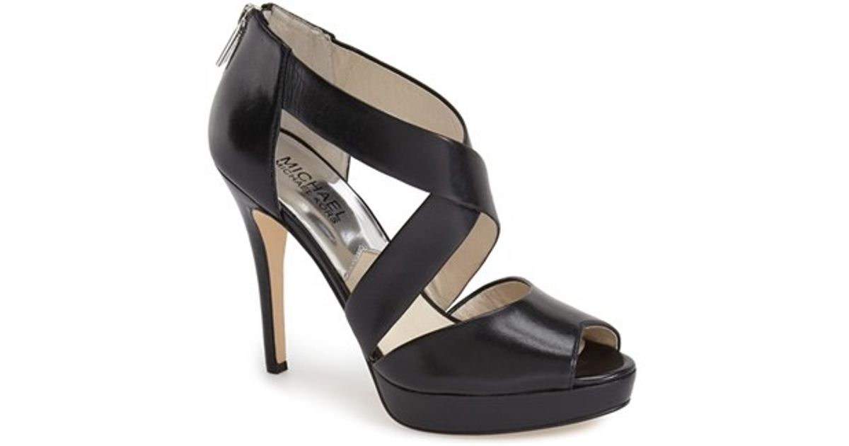 81eef5d91ea Lyst - MICHAEL Michael Kors Ariel Platform Sandals in Black