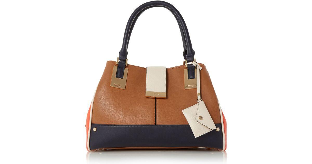 Dune Darlowe Multi-compartment Shoulder Bag in Brown | Lyst